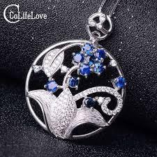 blue sapphire necklace pendant images Luxurious sapphire pendant 100 natural blue sapphire necklace jpg