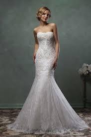 unique strapless detachable skirt mermaid lace wedding dress