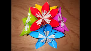 cara membuat bunga dari lipatan kertas origami cara membuat hiasan bunga dari kertas lipat youtube