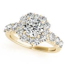 flower design rings images Diamond frame engagement ring flower design 14k yellow gold 2 10ct jpg