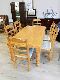 solid pine kitchen table with six chairs in coleraine county solid pine kitchen table with six chairs