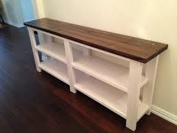 rustic chic console table ana white consoles and woods