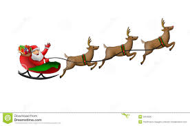 santa claus in his sleigh royalty free stock image image 3464006