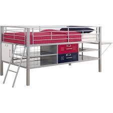 Locker Bedroom Furniture by Dhp Junior Silver Locker Bed Twin Blue Red Walmart Com
