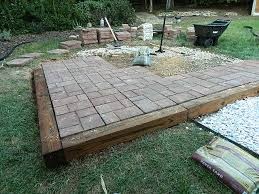 How To Lay Paver Patio Diy Paver Patio Add Easy Way To Lay A Patio Add How To Build A