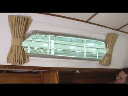 How To Make Roll Up Curtains How To Make Boat Interior Curtains Youtube