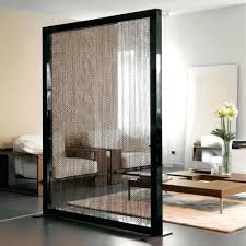 room dividers sliding doors beautiful gold chain curtain divider