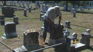 man on mission to clean every gravestone at cape cod cemetery