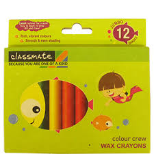 classmate products buy online itc classmate colour crew wax crayons 12 pc buy online