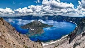 Oregon scenery images Background beautiful scenery turquoise blue lake blue sky with jpg