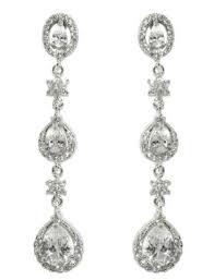 Black And Silver Chandelier Earrings Cz Chandelier Earrings U2013 Beloved Sparkles