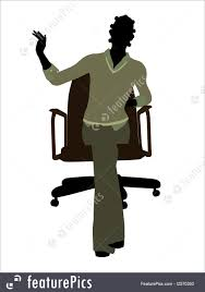 Office Chair Clipart African American Female Sitting On An Office Chair Executive