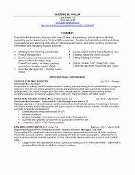 44 elegant image of sample resume for executive administrative