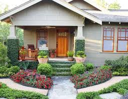bungalow style home with wooden front door comfy bungalow style