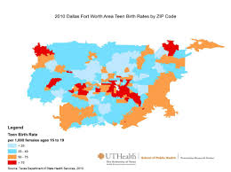 Dallas Fort Worth Zip Code Map by Texas Teen Birth Rate Maps By Metro Area Prevention Research Center