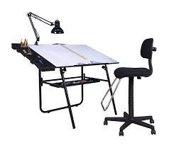 Studio Designs Drafting Tables 4 Pneumatic Ultima Set Black