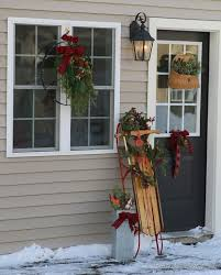 outdoor decorating ideas outdoor vintage christmas decorating ideas how to make a bow