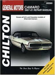 all car manuals free 1969 chevrolet camaro security system chevrolet camaro 1967 81 chilton total car care series manuals