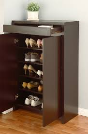 Amazon Com Shoe Cabinet With Storage Drawer Includes Five Shelves