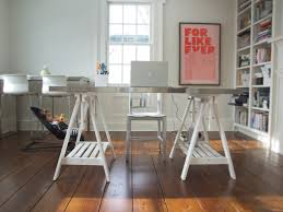 trestle table legs home office eclectic with bookcase bookshelves