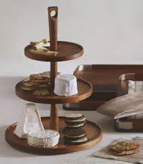 tiered serving stand tiered wooden pedestal food and cheese serving tray nova68