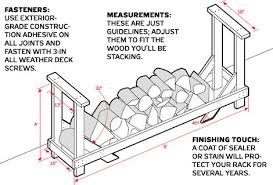 firewood storage rack plans
