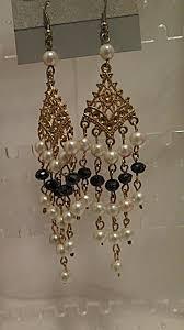 chandelier earring black and white chandelier earring mysite