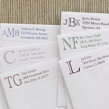 custom monogram personalized address labels