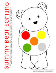 free gummy bear sort and graph printable art projects