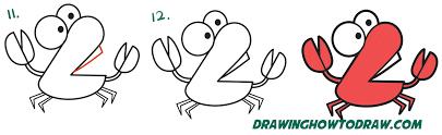 coloring wonderful simple crab drawing draw step 10
