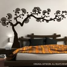 modern bonsai tree wall decal decalmywall
