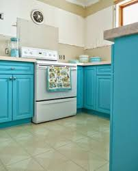 Painting Of Turquoise Kitchen Cabinets For Any Kitchen Styles - Turquoise kitchen cabinets