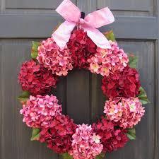 Wreath For Front Door Valentine Wreath Red U0026 Pink Hydrangea Wreath For Valentines Day