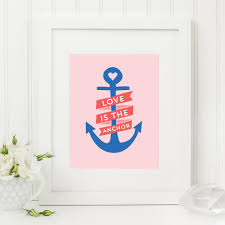 Items Similar To Nautical Anchor - a fun nautical twist on the classic saying love is the answer