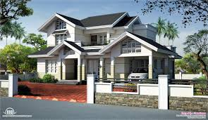 slope house plans sloped roof house elevation design kerala home floor house plans