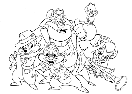 chip n dale rescue rangers chip and dale coloring pages getcoloringpages com