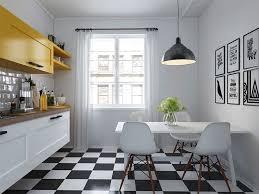 cuisine sol blanc lino noir et blanc damier sol damier d co d co carrelage
