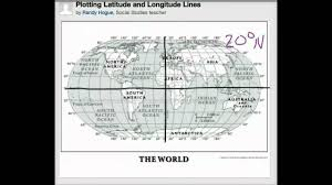 Longitude Map Plotting Latitude And Longitude Lines Youtube