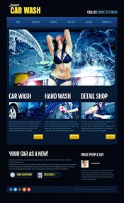website template 45287 james car wash custom website template