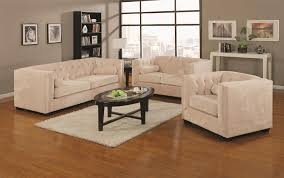 Coaster Alexis Transitional Chesterfield Sofa With Track Arms - Chesterfield sofa and chairs