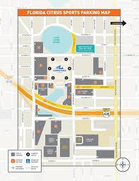 Atlanta Airport Parking Map by Citrus Bowl Parking Map Citrus Bowl Parking Lot Map Florida Usa