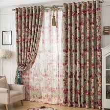 green floral country custom made european style curtains