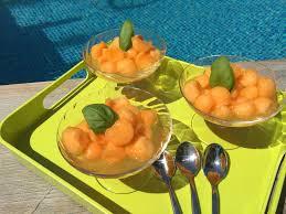 vervenne cuisine billes de melon au sirop de verveine martine en cuisine
