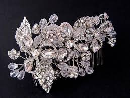 hair brooch design spectacular bridal swarovski hair comb vine leaf design wedding