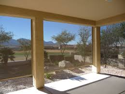 motorized exterior roller shades protection while maintaining views