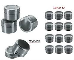 Metal Containers With Lids For Storage - magnetic spice tins stainless steel storage container jars clear