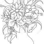 flower in vase drawing pencils sketches of flower vase pencils