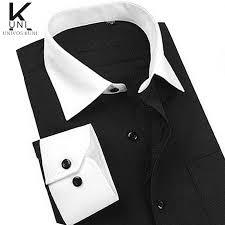 size m 4xl men designer dress shirt high quality french cuff non