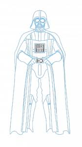 how to draw darth vader star wars movies easy step by step