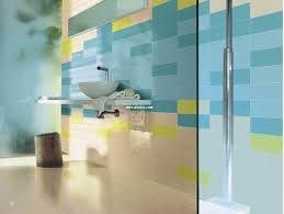 bathroom delightful blue yellow bathroom wall tiles space glass